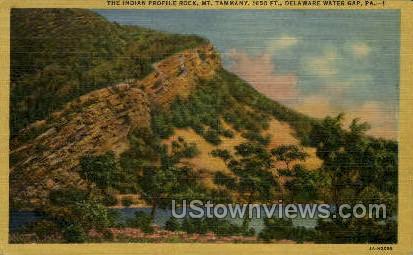 Indian Profile Rock - Delaware Water Gap, Pennsylvania PA Postcard