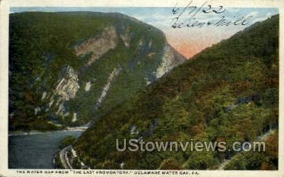 Last Promontory - Delaware Water Gap, Pennsylvania PA Postcard