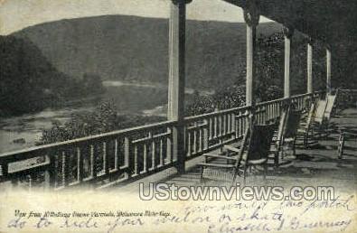 Kittatinny House Veranda - Delaware Water Gap, Pennsylvania PA Postcard