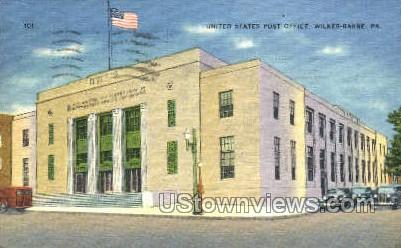 US Post Office, Wilkes-Barre - Pennsylvania PA Postcard