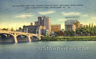 Kirby Park, Sterling Hotel - Wilkes-Barre, Pennsylvania PA Postcard