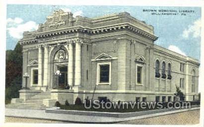 Brown Memorial Library - Williamsport, Pennsylvania PA Postcard