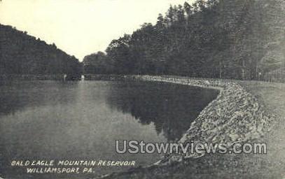 Bald Eagle Mountain Reservoir - Williamsport, Pennsylvania PA Postcard
