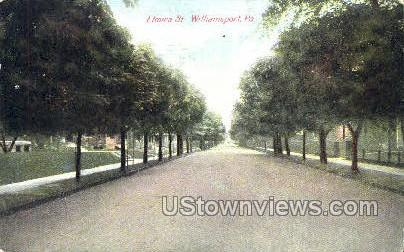 Elmira Street - Williamsport, Pennsylvania PA Postcard