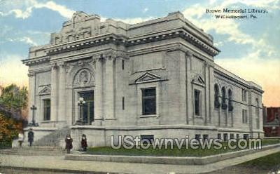 Brown Memorial Library - Williamsport, Pennsylvania PA Postcard