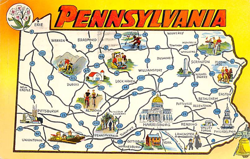 Pennsylvania Map PA