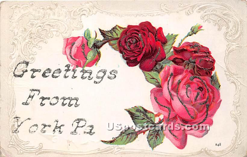 Greetings from - York, Pennsylvania PA Postcard
