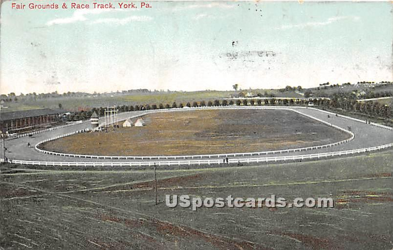 Fair Grounds & Race Track - York, Pennsylvania PA Postcard