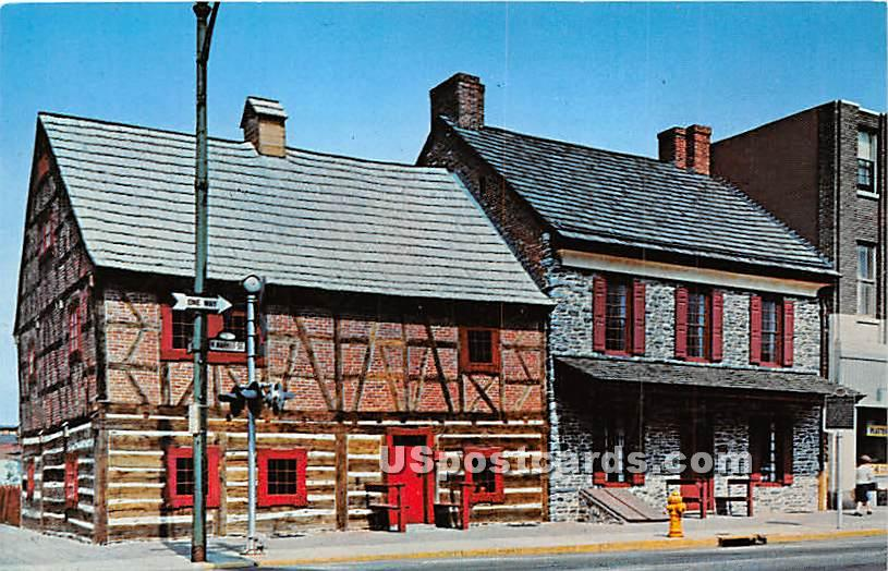 Gates House & Plough Tavern - York, Pennsylvania PA Postcard