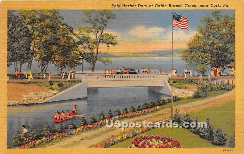 Safe Harbor Dam - York, Pennsylvania PA Postcard