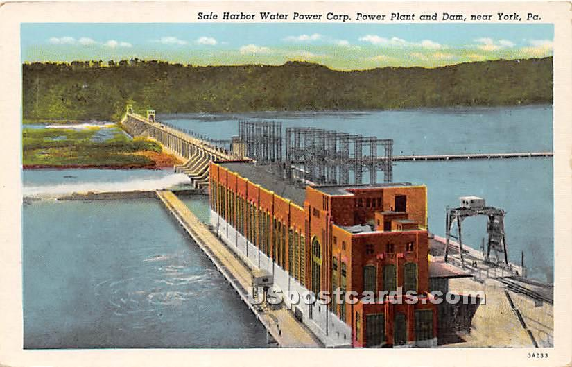 Safe Harbor Water Power Corp - York, Pennsylvania PA Postcard