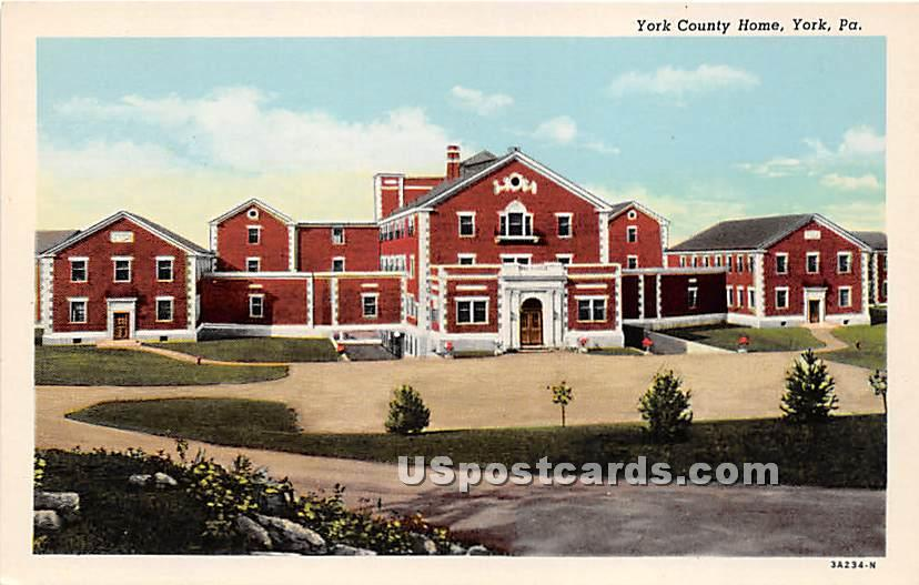 York County Home - Pennsylvania PA Postcard