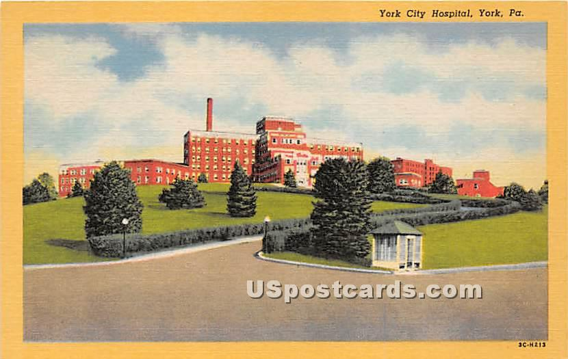York City Hospital - Pennsylvania PA Postcard