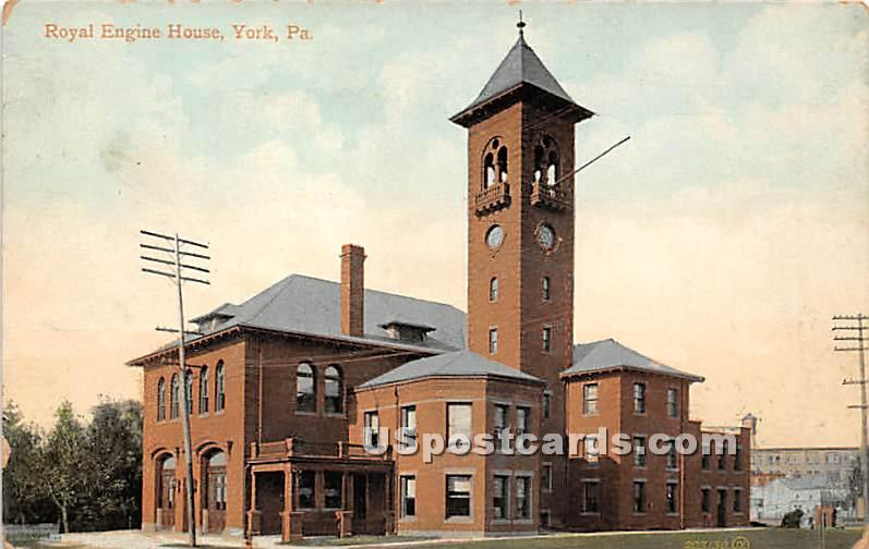 Royal Engine House - York, Pennsylvania PA Postcard