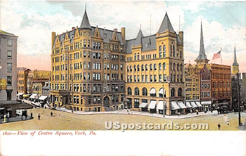 Centre Square - York, Pennsylvania PA Postcard