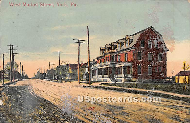 West Market Street - York, Pennsylvania PA Postcard