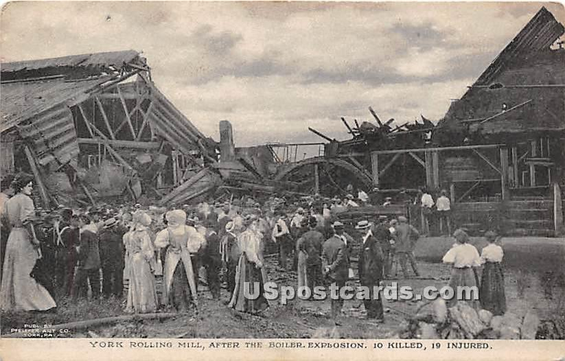 York Rolling Mill Disaster Aug 10, 1908 - Pennsylvania PA Postcard