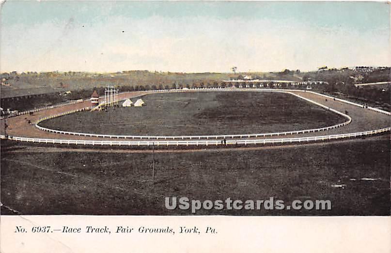 Race Track, Fair Grounds - York, Pennsylvania PA Postcard