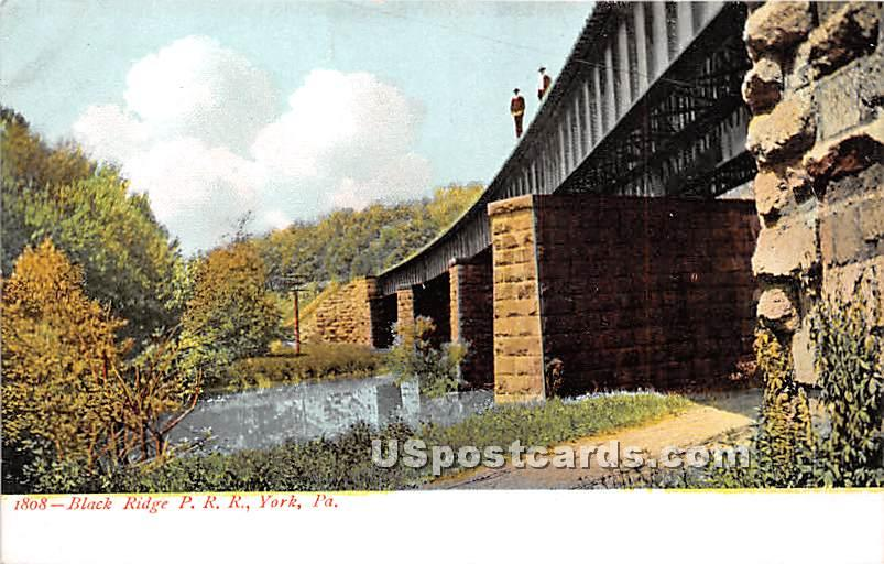 Black Ridge P R R - York, Pennsylvania PA Postcard