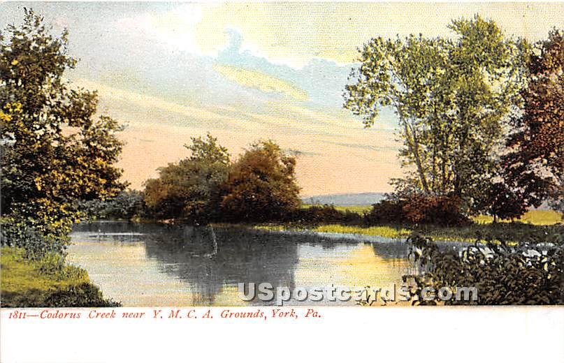 Codorus Creek, YMCA - York, Pennsylvania PA Postcard
