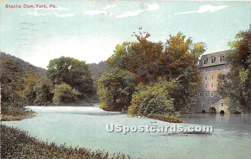 Stachs Dam - York, Pennsylvania PA Postcard