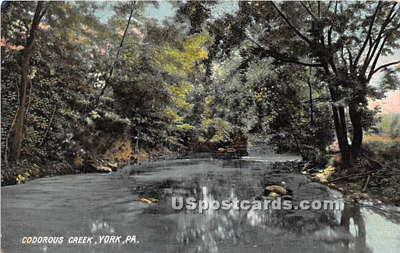 Codorous Creek - York, Pennsylvania PA Postcard