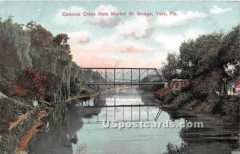 Codorus Creek - York, Pennsylvania PA Postcard