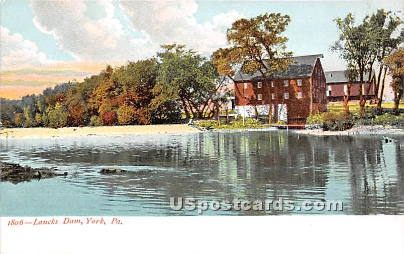 Laucks Dam - York, Pennsylvania PA Postcard