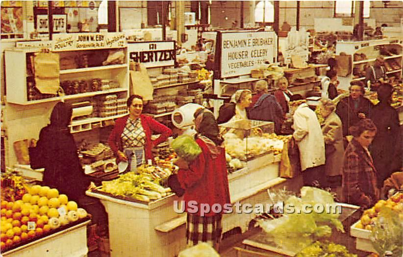 Farmer's Market - York, Pennsylvania PA Postcard
