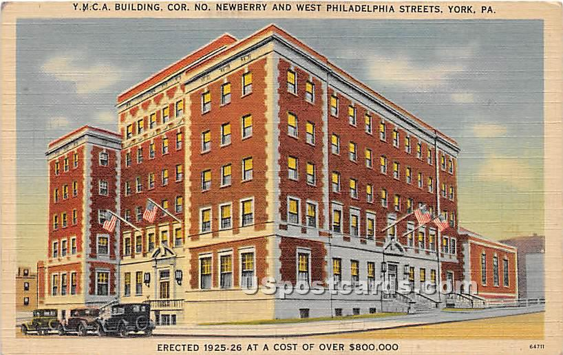 YMCA Building - York, Pennsylvania PA Postcard