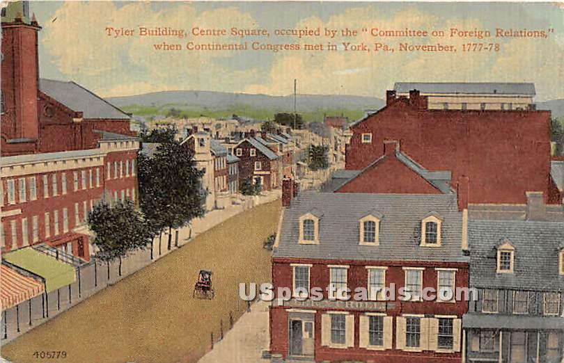 Tyler Building - York, Pennsylvania PA Postcard