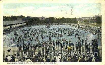 Community Swimming Pool - York, Pennsylvania PA Postcard
