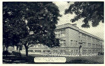 William Penn, Senior High School - York, Pennsylvania PA Postcard
