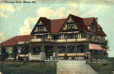 Country Club, York - Pennsylvania PA Postcard