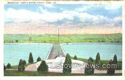 York's Water Supply, Reservoir - Pennsylvania PA Postcard
