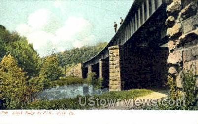 Black Ridge P.R.R. - York, Pennsylvania PA Postcard