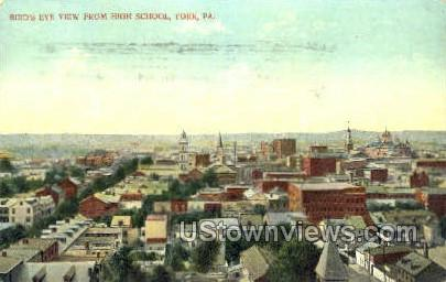 High School, York - Pennsylvania PA Postcard