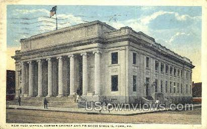 Post Office, York - Pennsylvania PA Postcard