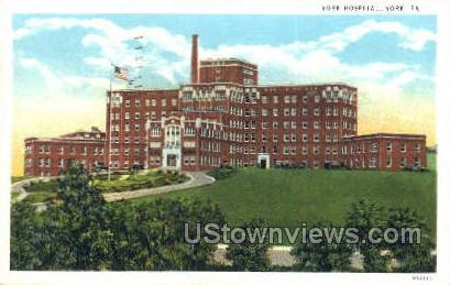 York Hospital - Pennsylvania PA Postcard