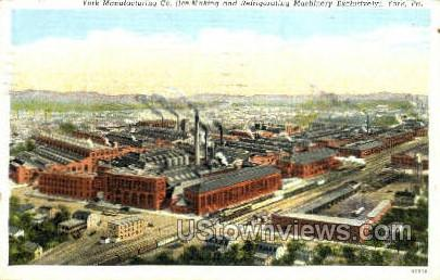 York Manufacturing Co. - Pennsylvania PA Postcard