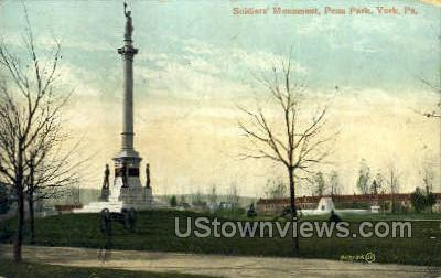 Soldiers Monument - York, Pennsylvania PA Postcard