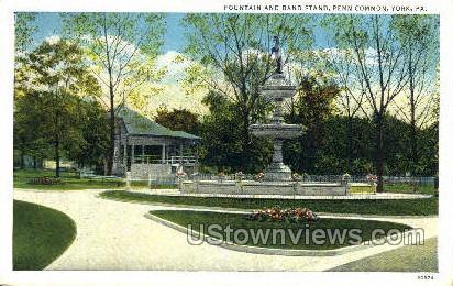 Band Stand, Penn Common - York, Pennsylvania PA Postcard