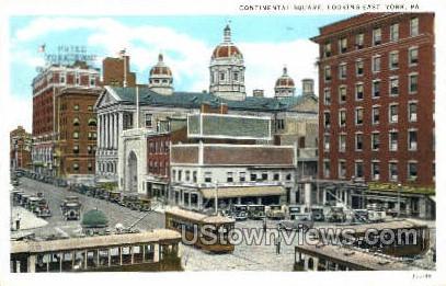 Continental Square - York, Pennsylvania PA Postcard