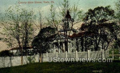 County Alms House - York, Pennsylvania PA Postcard
