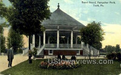 Band Stand, Farquhar Park - York, Pennsylvania PA Postcard