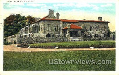 Country Club, York - Pennsylvania PA Postcard