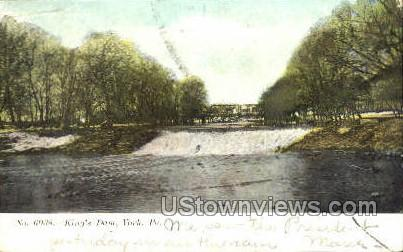 King's Dam - York, Pennsylvania PA Postcard