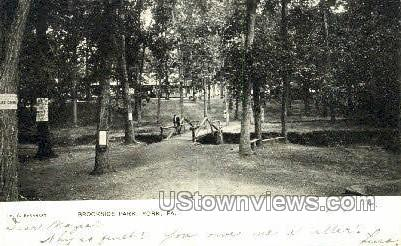 Brookside Park - York, Pennsylvania PA Postcard