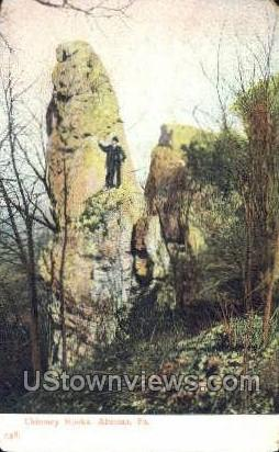 Chimney Rocks - Altoona, Pennsylvania PA Postcard