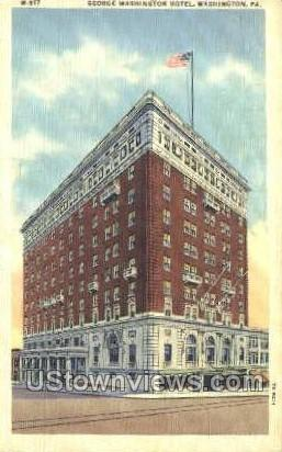 George Washington Hotel - Pennsylvania PA Postcard